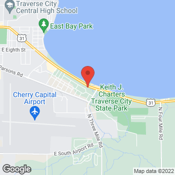 Map of Denny's Traverse City at 878 Munson Ave, Traverse City, MI 49686