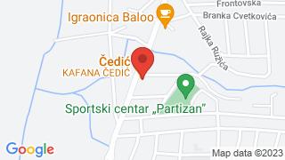 Чедић map