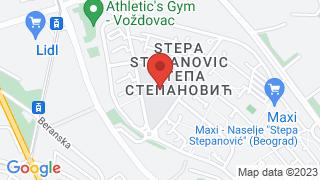Насеље Степа Степановић map