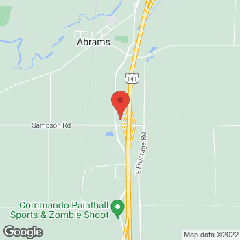 Map of Arby's at 2516 W Frontier Rd, Abrams, WI 54101