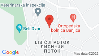 Belgrade Boutique House map