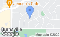 Map of Burnsville, MN