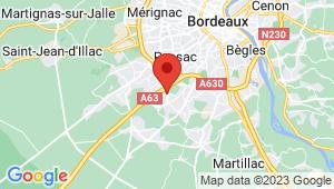 Carte de localisation du centre de contrôle technique GRADIGNAN