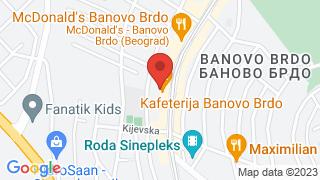 Kafeterija Banovo brdo map