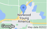 Map of Norwood Young America, MN