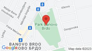 Banovo Brdo Park map