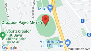 Стадион Црвене Звезде map