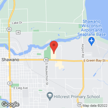 Map of Check `n Go Woodlawn Drive at 150 Woodlawn Drive, Shawano, WI 54166
