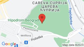 Hippodrome Belgrade map