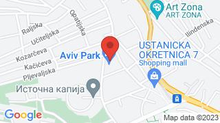 Aviv park Zvezdara map