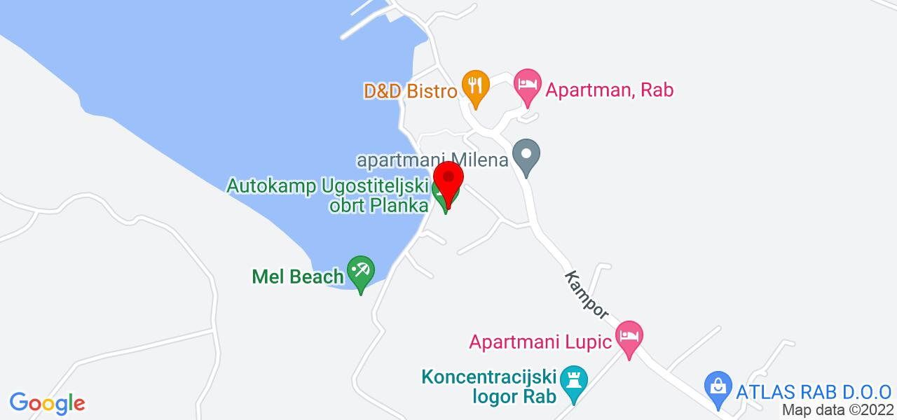 Google Map of accommodation in Croatia - house MERI