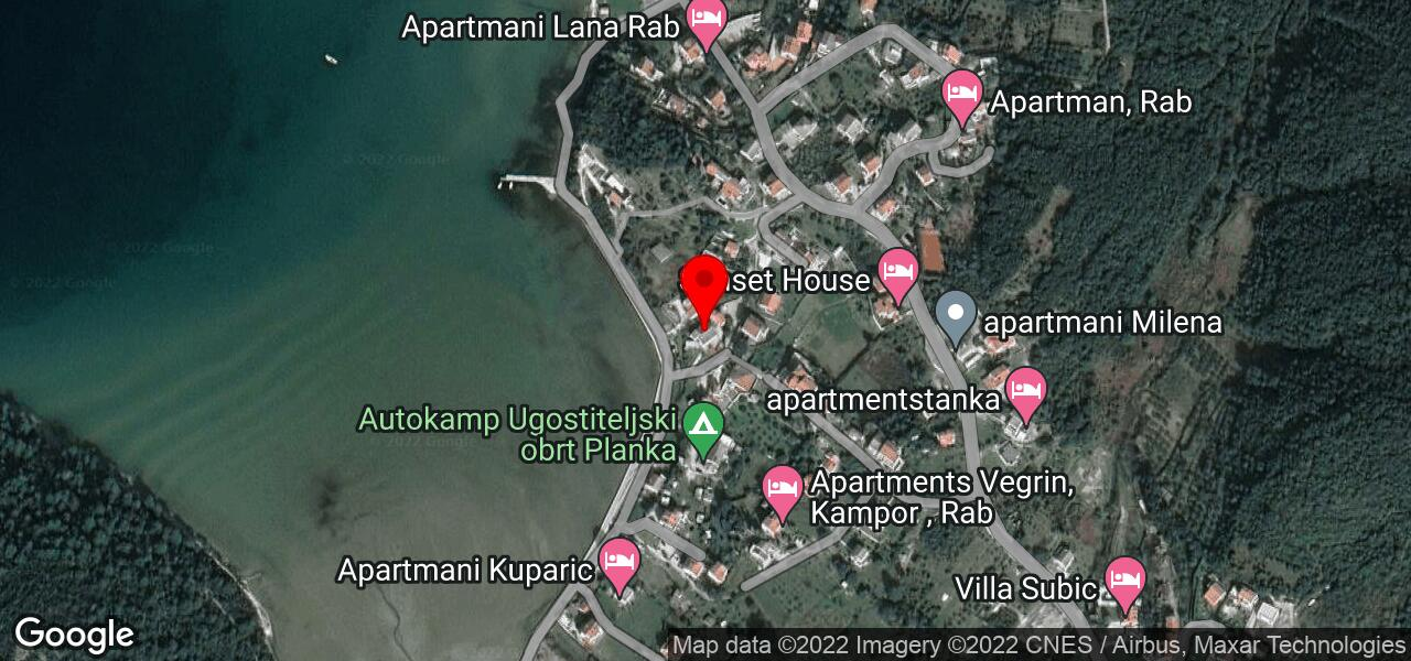 Google Map of Beach holidays apartment on Croatian Adriatic islands - MEL III