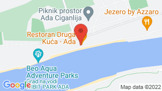Druga kuća Ada Ciganlija map