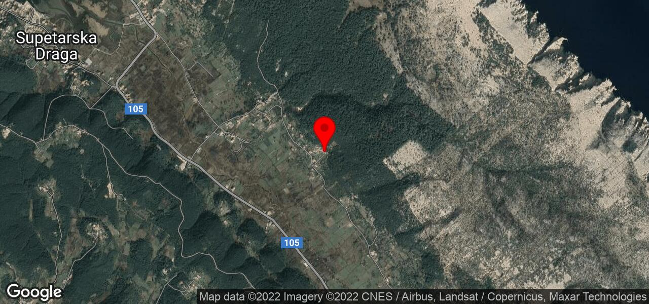 Google Map of holiday house in Croatia Rab - MARICA II