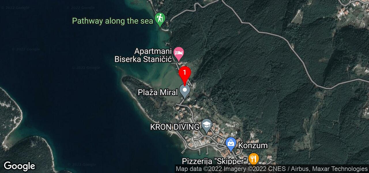 Google Map of House IVICA on island Rab Croatia
