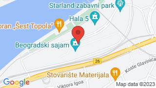 Београдски сајам map
