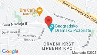 Beogradsko dramsko pozorište map