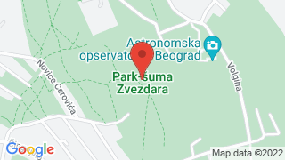 Forest park Zvezdara map