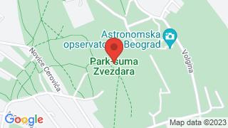 Парк шума Звездара map
