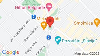 Slavija square map