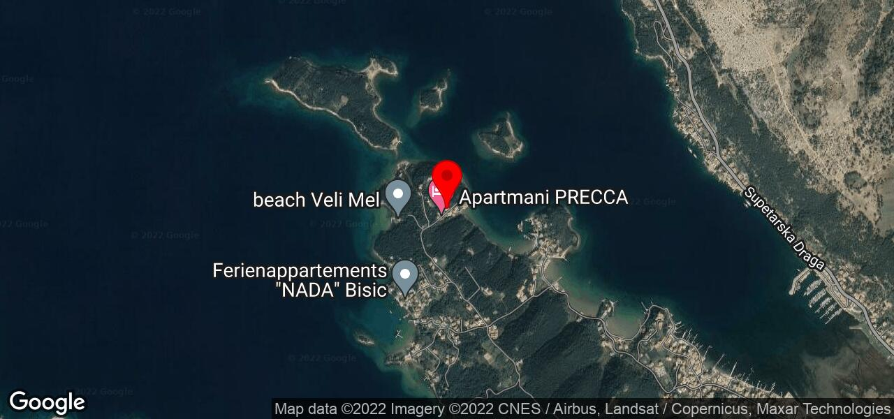 Google Map of apartment in Croatia with dog allowed - ZALA