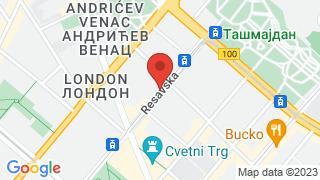 Ambasada Beograd map