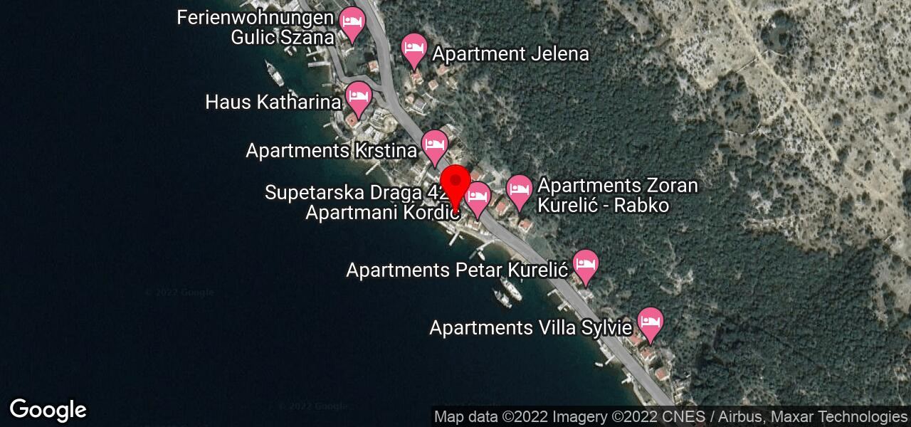 Google Map of HOUSE ANGELA in Supetarska Draga Rab