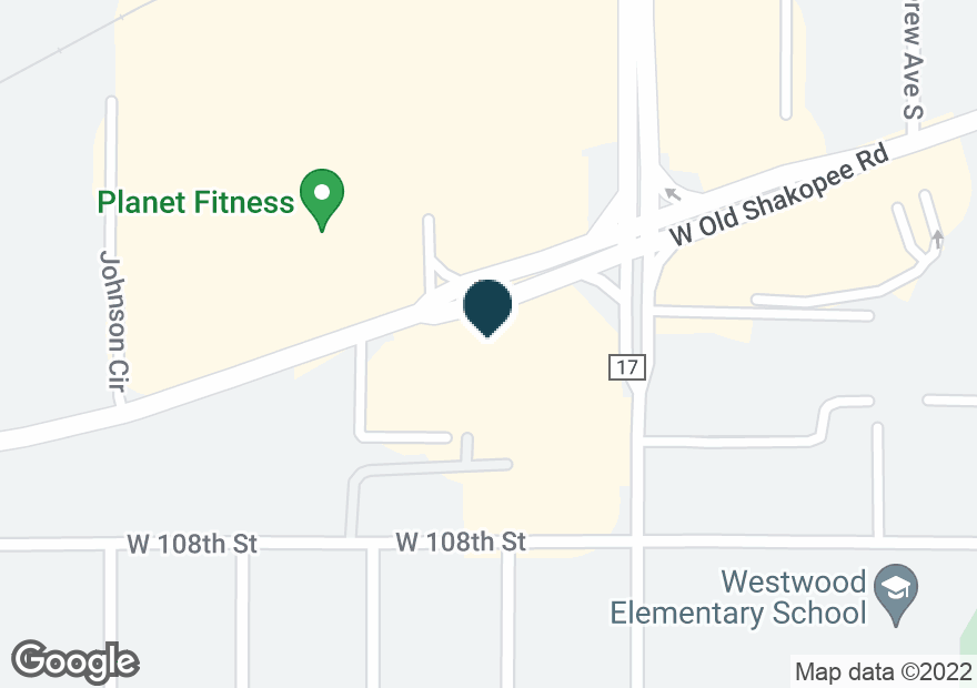 Google Map of3913 W OLD SHAKOPEE RD