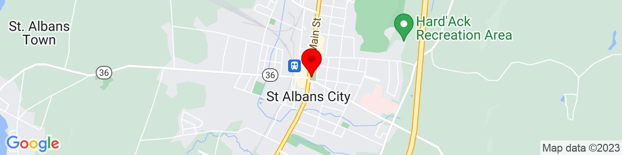 Google Map of 44.81083333333333, -73.08305555555555