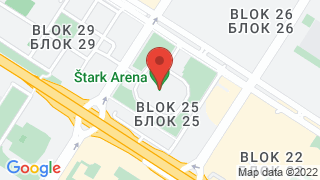 Štark Arena map