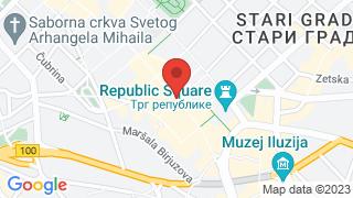 Кнез Михаилова улица map