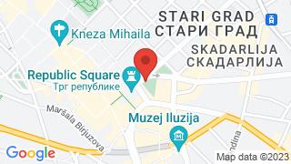 Центар града map