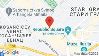 Belgrade Art Hotel map