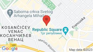 Француски институт у Србији map