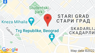 Courtyard by Marriott Belgrade City Center map
