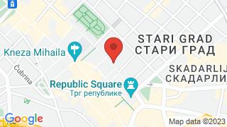 Courtyard by Marriott Belgrade City Center map