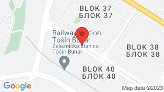 Novi Beograd map