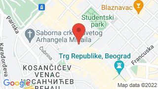 Serbian Academy of Sciences and Arts map