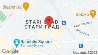 Skadarlija map