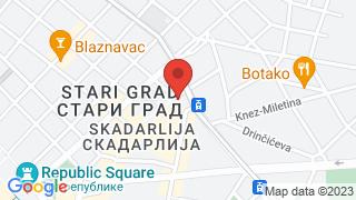 Velika Skadarlija map
