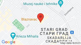 Blaznavac map