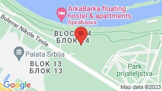 Парк Ушће map