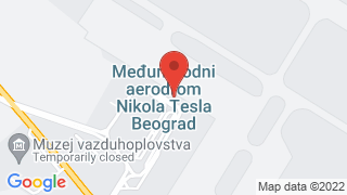 Airport Belgrade map