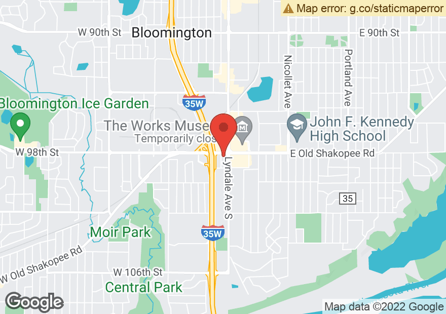 Google Map of 9800 LYNDALE AVE S