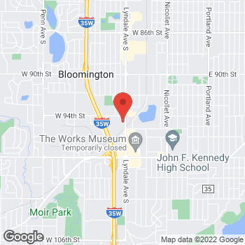 Map of maX it PAWN at 9432 Lyndale Ave S, Bloomington, MN 55420