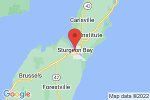 Map of Sturgeon Bay