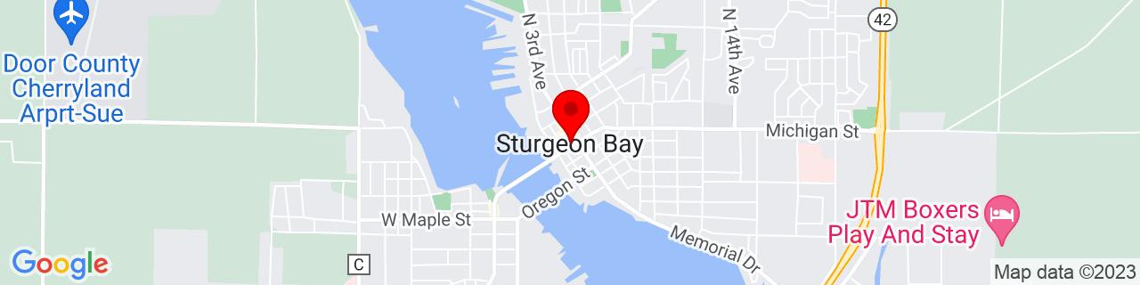 Google Map of 44.83416666666667, -87.37694444444443