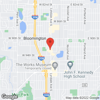 Map of Arby's at 9240 Lyndale Ave S, Bloomington, MN 55420