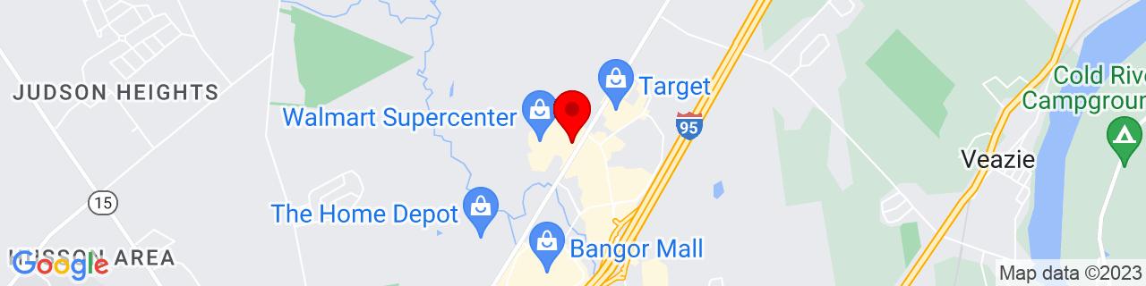 Google Map of 44.8397629, -68.7461541
