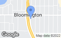 Map of Bloomington, MN